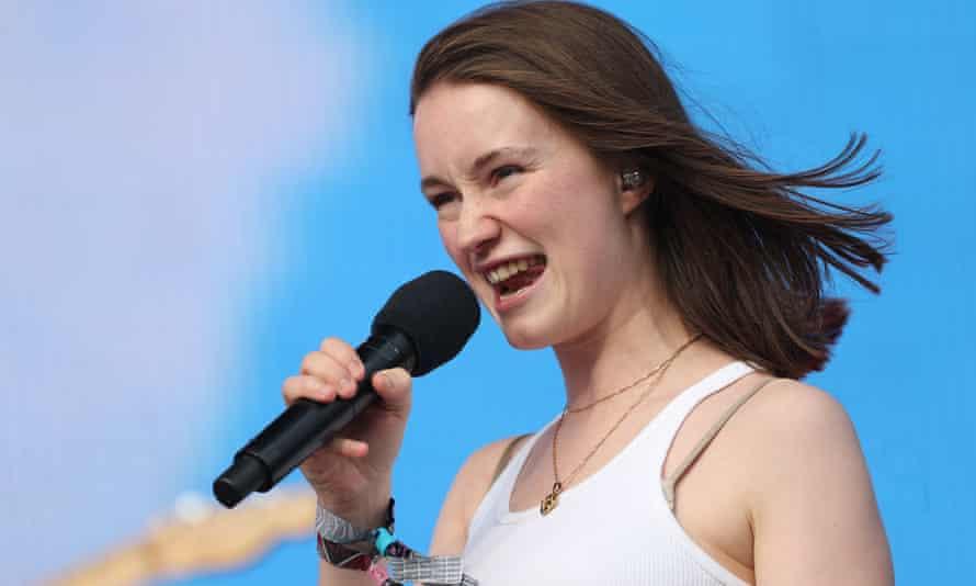 Sigrid at the Glastonbury festival