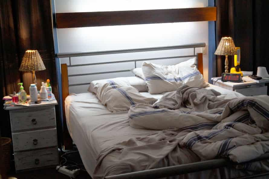an untidy bedroom