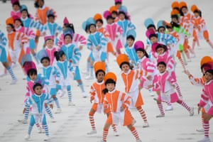 Singapore: Children take part in the 54th National Day parade in Singapore