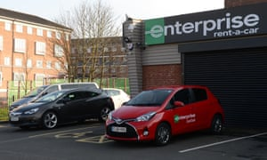 The branch of car-hire firm Enterprise in Spring Hill, Birmingham used by Westminster attacker Khalid Masood.