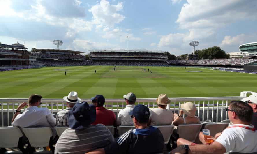 Wisden states Robert Percival threw a cricket ball 140 yards and two feet – approximately the distance between the Tavern Stand at Lord's (foreground) and the Grand Stand.