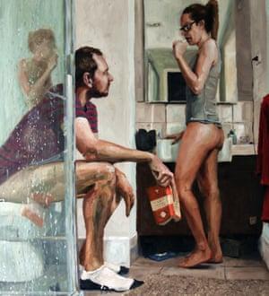 Bog standard … James Needham's painting Lovers.