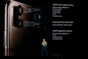 Schiller demonstrates the new iPhone's much-improved camera.