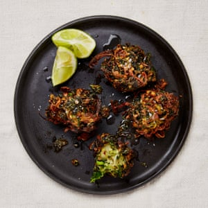 Yotam Ottolenghi's kale and onion bhajis