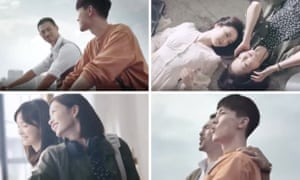 Images from the new Chinese commercial for the Cartier Trinity ring.