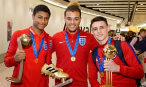 It's your boys, Rhian Brewster, Joel Latibeaudiere and Phil Foden.