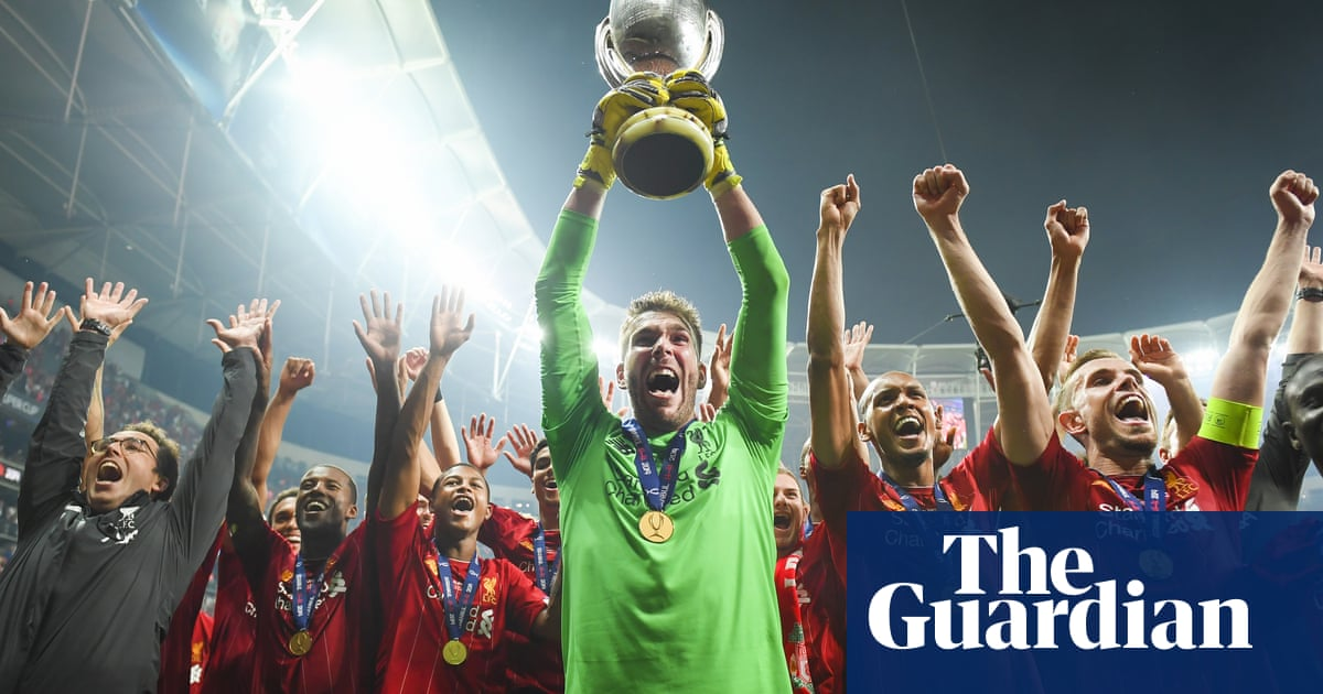 Jürgen Klopp and penalty hero Adrián react to Super Cup victory – video