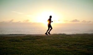 Motivational stock shot of runner. Superimpose with really irritating trite quote (in hideous font) about how to regain lost mojo? Nah, you're ok, thanks