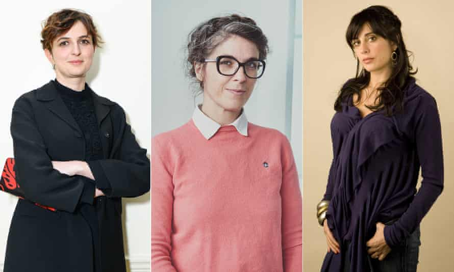 Alice Rohrwacher, Eve Husson and and Nadine Labaki, the three female directors who will compete at Cannes this year.