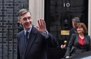 Jacob Rees-Mogg leaves a cabinet meeting at 10 Downing Street this week.