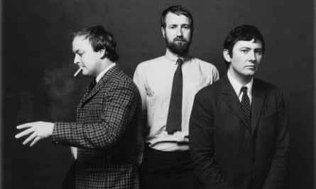 Adrian Flowers, centre, with Brian Duffy (left) and Terence Donovan, who both worked for him at his Dover Street studio.