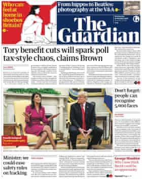 Guardian front page, Wednesday 10 October 2018