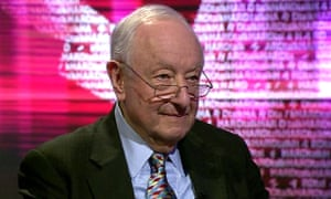 Lord Lester speaking on the BBC in 2016