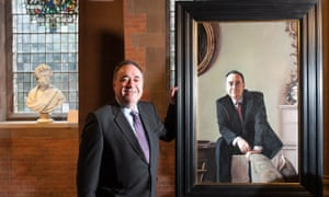 Alex Salmond unveiling a portrait of himself at the Scottish National Portrait Gallery last year