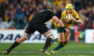 Matt Giteau on the attack.