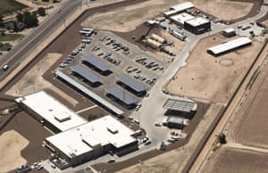 An aerial view of the border patrol facility in Clint, Texas, where attorneys reported migrants had been held in disturbing conditions.