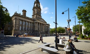 The town hall in Bolton, Greater Manchester.