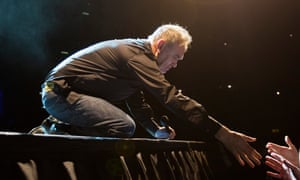 Morrissey on stage in Birmingham earlier this year.