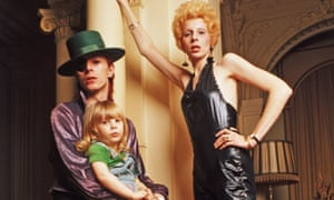 Angie Bowie with David and son Zowie in 1974