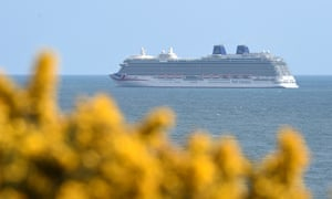 The Britannia cruise ship of the P&O Cruises fleet.