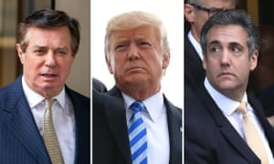 (L) Paul Manafort; (M) Donald Trump; (R) Michael Cohen