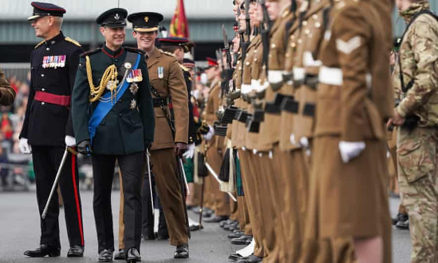 Graduation parade, 2020, for young soldiers training to join the UK military