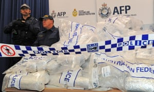 Police with methylamphetamine or 'ice'