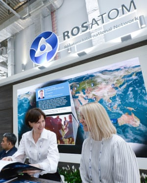 The Rosatom stand at the 2018 Atomexpo international nuclear industry forum in Sochi.