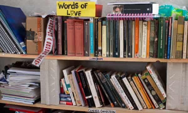 Some of the books in the Jungle's library