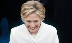 Hillary Clinton pictured after the inauguration of President Trump.