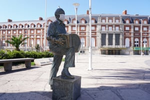 Buenos Aires, Argentina. A statue of the musician Astor Piazzolla