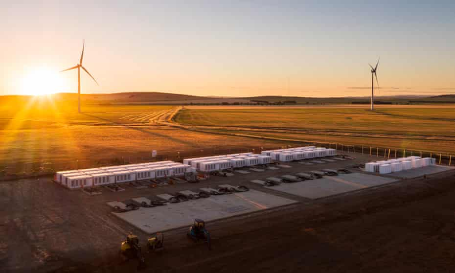 batteries and wind turbines in south australia