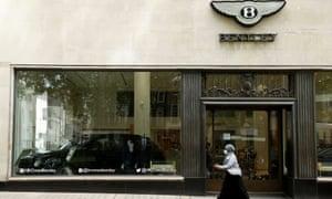 A Bentley showroom
