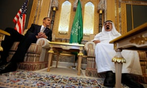 Obama with Saudi king Abdullah in Riyadh in June 2009. It was previously reported that Abdullah gave Michelle Obama gifts worth $132,000.