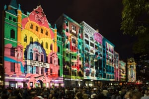 Fractured Fairytales, a projection at White Night Melbourne.