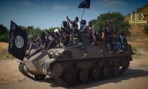 A screengrab from a Boko Haram video.
