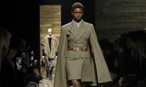 Models walk the Michael Kors runway at New York fashion week.