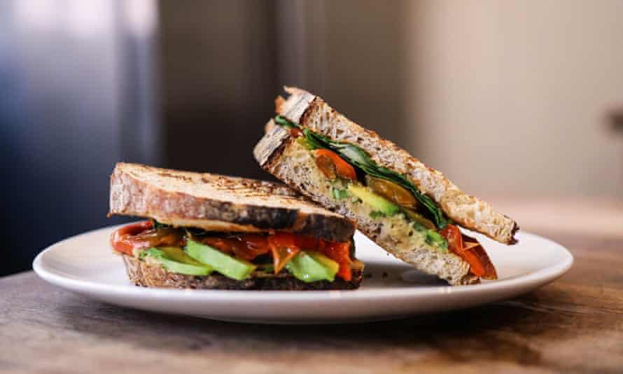 El Cafe vegan sandwich