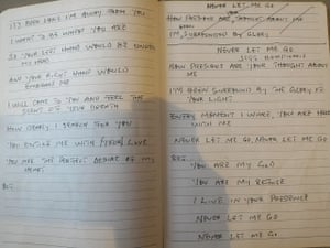 Pages from the diary of Humphrey Jefferson, known as Jeff, who is on death row in Indonesia facing imminent execution, July 2016.