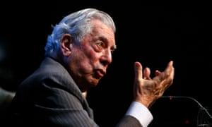 Mario Vargas Llosa in Madrid.