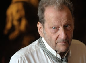 Lucian Freud's studio is the setting for Alan Frank's portrait of the painter.