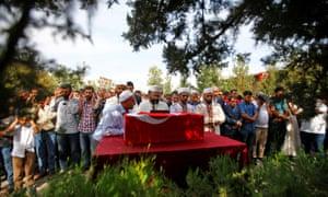 The funeral of nine-month-old baby boy Mohammed Omar Shaar in Akçakale.