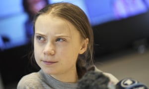 Greta Thunberg at a Fridays For Future press conference, Stockholm.
