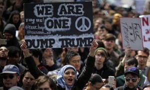 An anti-Trump rally