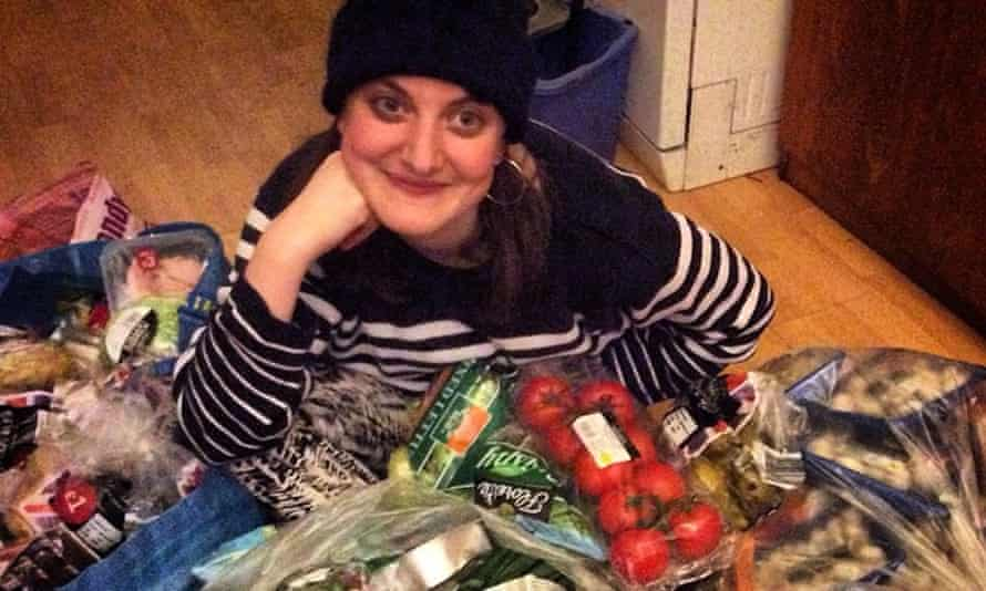 Mim Skinner with food intercepted from waste systems.