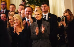 Ivanka Trump and others applaud the president's speech at the White House on Thursday.