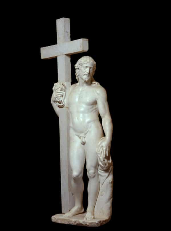 Michelangelo's risen Christ