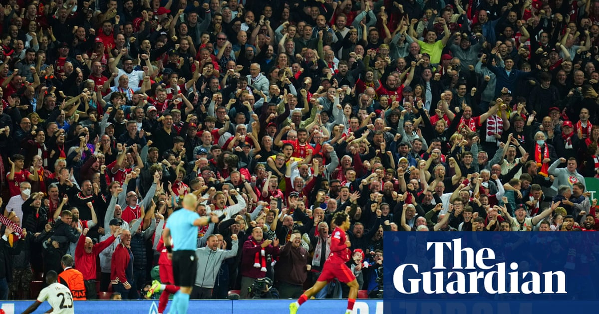 Anfield offers reminder of its magical power on Liverpool rollercoaster ride