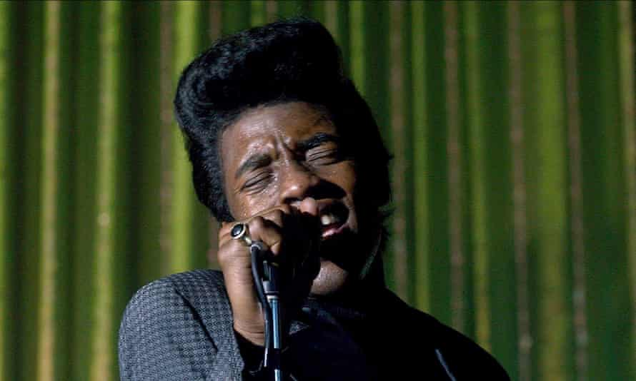 Chadwick Boseman as James Brown in Get On Up, 2014, one of a trio of biopics in which he starred as American icons.