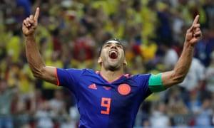 Colombia's Radamel Falcao celebrates.